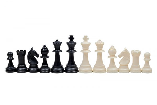 3 Piese de șah din plastic STAUNTON nr 6