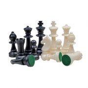 4 Piese de șah din plastic STAUNTON nr 6