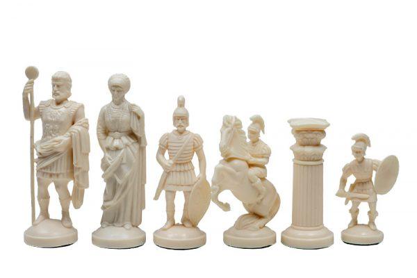 Piese de șah figurine romane negr::crem (fără contragreutate) 1