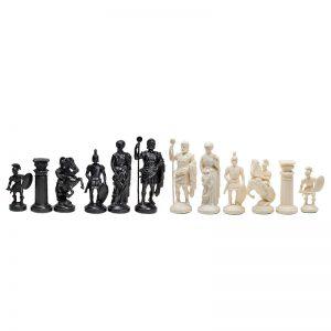 Piese de șah figurine romane negr::crem (fără contragreutate) 3