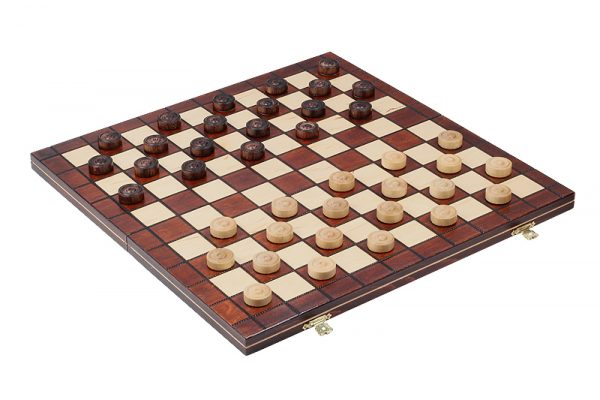 0 Joc de dame din lemn cu 100 de campuri