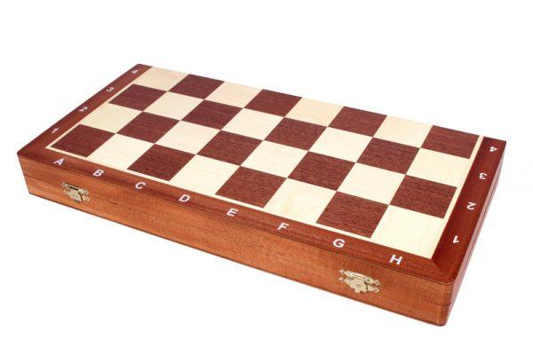 10 Set piese de sah din lemn nr 6 in cutie de lemn cu organizator