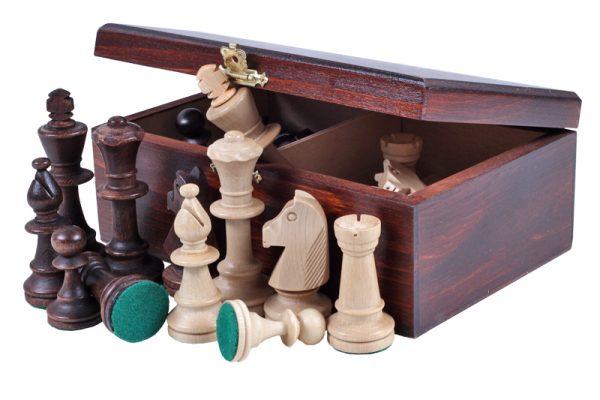 2 – Cutie de piese de șah din lemn de mahon, STAUNTON nr 7