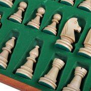 3 Set piese de sah din lemn nr 6 in cutie de lemn cu organizator
