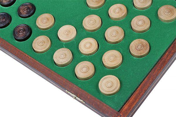 4 Joc de dame din lemn cu 100 de campuri