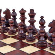 4 Set de sah magnetic cu tabla si piese de lemn