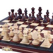 6 Set de sah magnetic cu tabla si piese de lemn