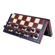 Set de sah magnetic cu tabla si piese de lemn