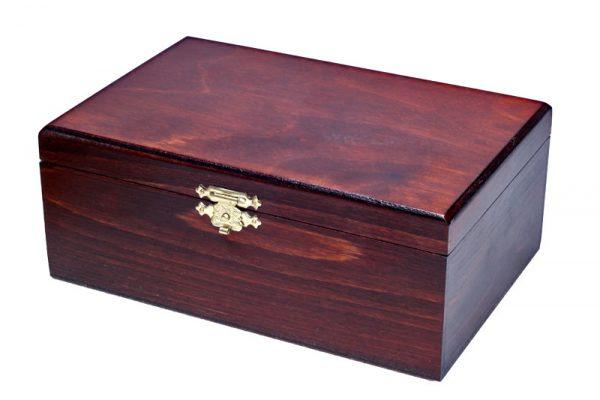 Cutie de piese de sah din lemn de mahon, STAUNTON nr 7