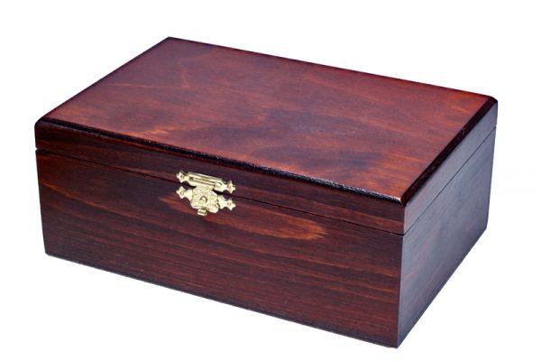 Piese de sah STAUNTON nr 6, in cutie de lemn maro inchis 3