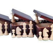 Set de sah STAUNTON nr 5, in cutie de lemn maro inchis 1