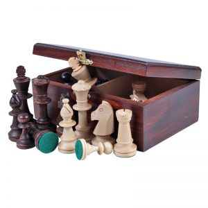 Set de sah STAUNTON nr 5, in cutie de lemn maro inchis