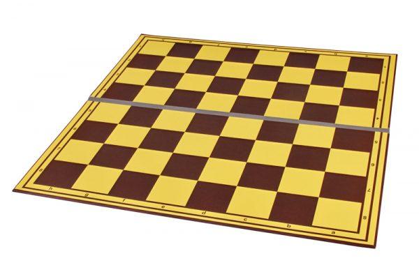 Tabla de sah carton dublata textil pe linia de pliere, galben-maro (3)