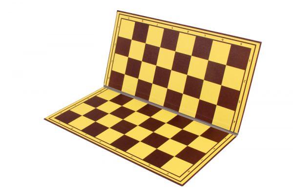Tabla de sah carton dublata textil pe linia de pliere, galben-maro (4)