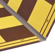 Tabla de sah carton dublata textil pe linia de pliere, galben-maro (6)