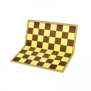 Tabla de sah carton mat sau lucios, galben-maro 1