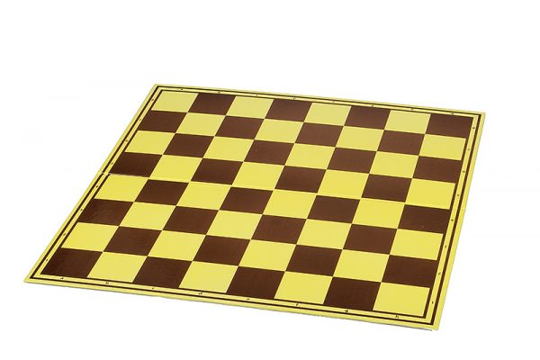 Tabla de sah carton mat sau lucios, galben-maro