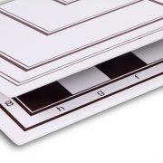 Tabla si piese de sah din plastic alb-maro, 42mm 5