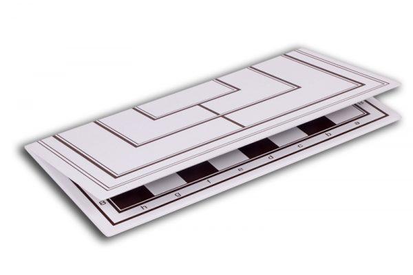 Tabla si piese de sah din plastic alb-maro, 42mm 6