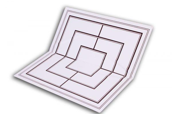 Tabla si piese de sah din plastic alb-maro, 42mm 7