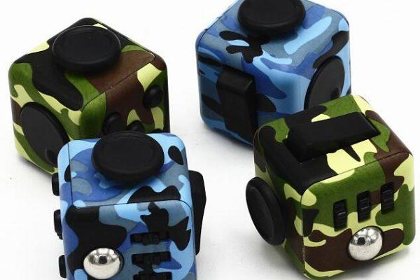 Fidget cube military albastru-verde