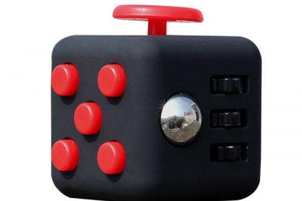 Fidget cube-negru-rosu