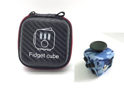 fidget-cube albastru military