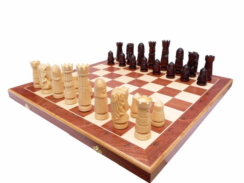 set de șah sculptat castel premium large magazin de sah master chess